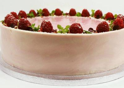Hindbærmousse kage